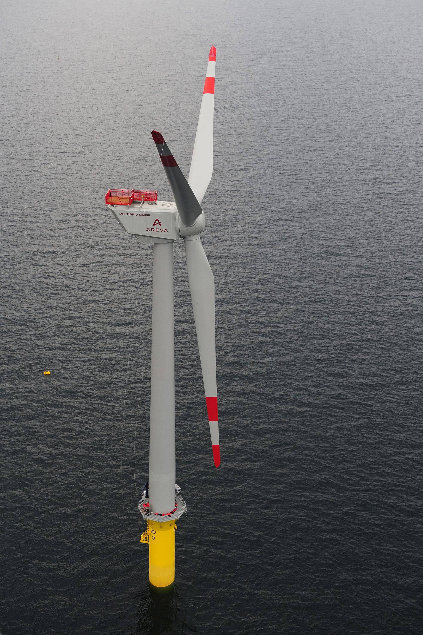 Deutschlands erste offshore Windenergieanlage