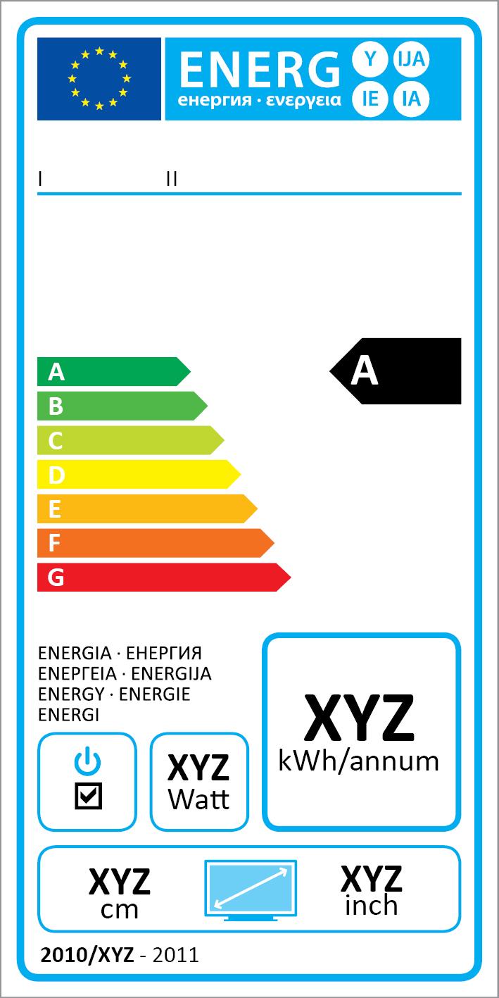 Energielabel für TV Geräte
