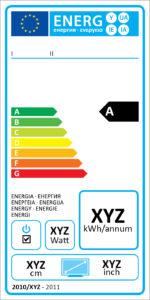Energielabel für TV-Geräte