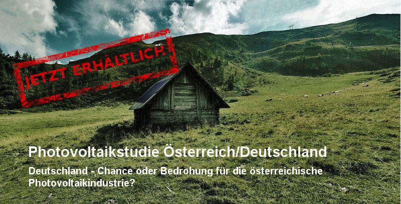 Photovoltaikstudie Österreich/ Deutschland jetzt erhältlich (1)