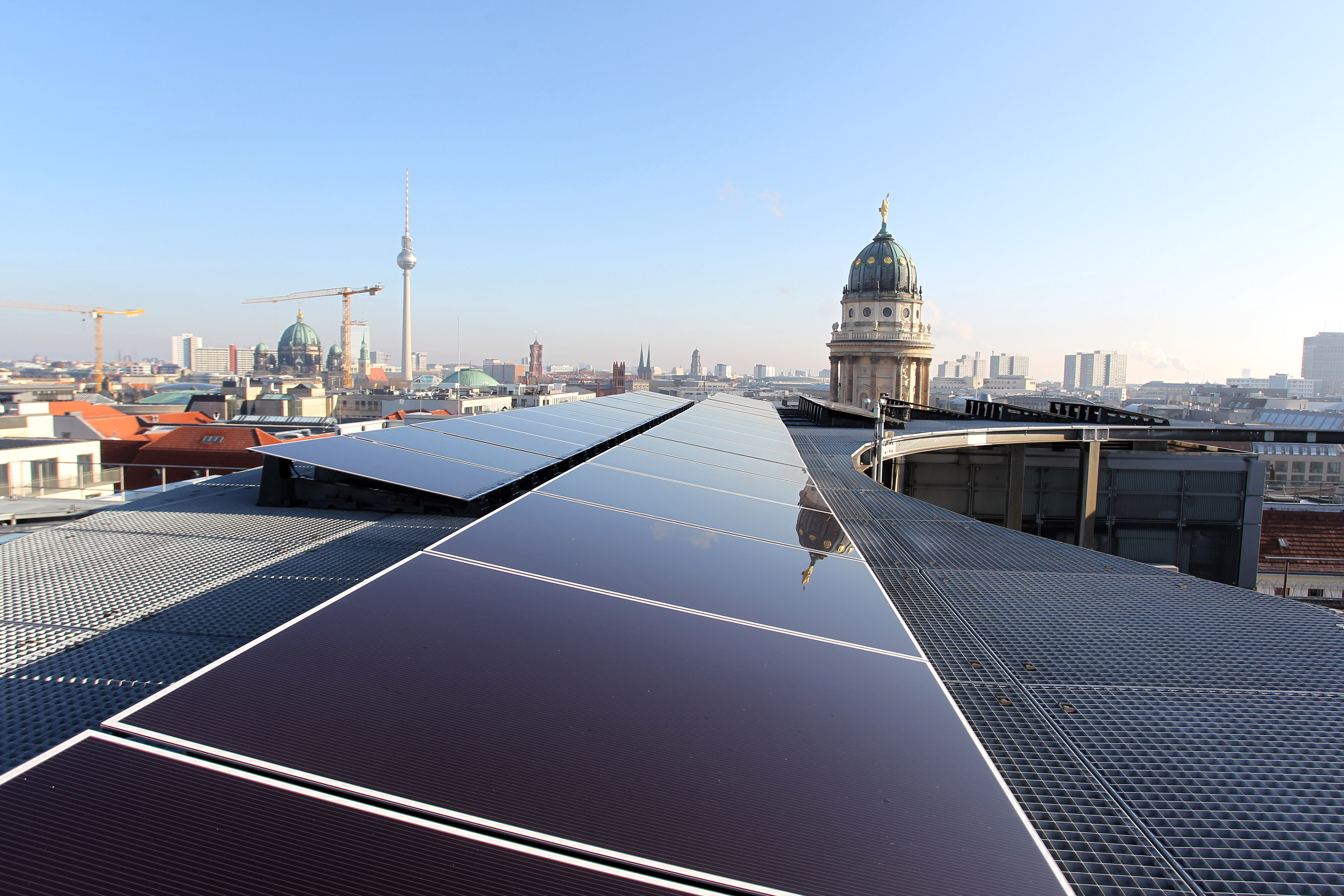 Photovoltaik-Anlage auf dem Verbandssitz des BSW-Solar