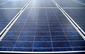 Nahaufnahme Solarstrom-Modulte (BSW-Solar/Upmann)