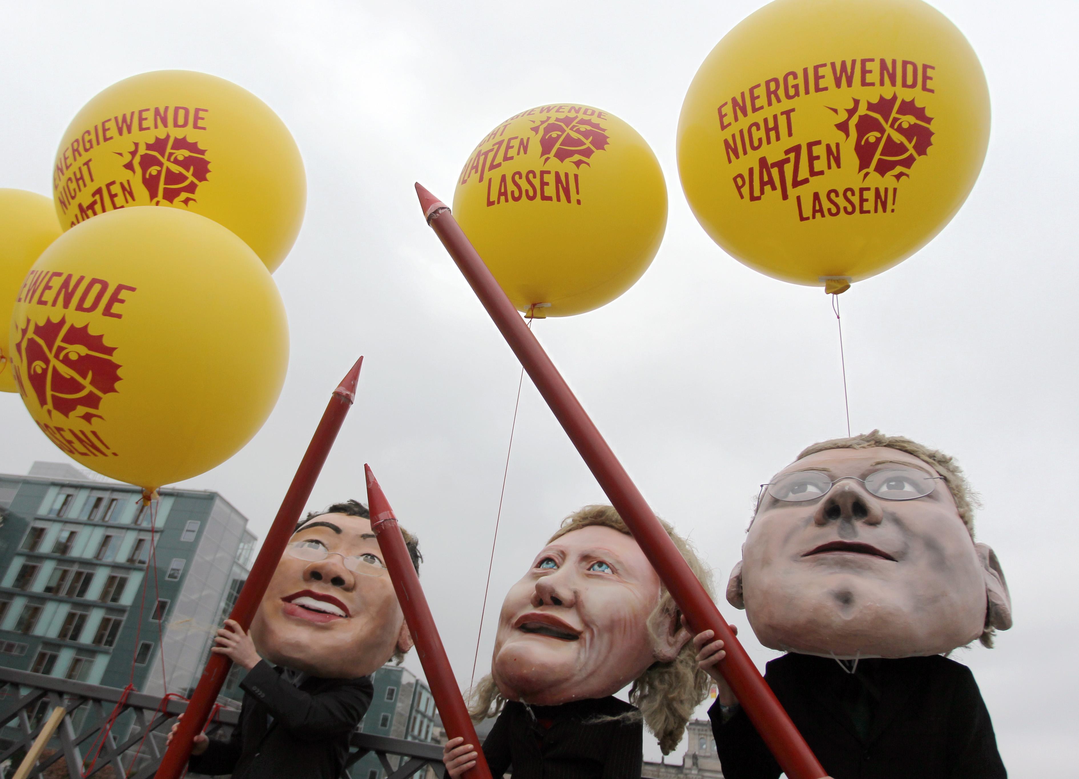 Proteste vor dem Umweltausschuss am 21.03.2012