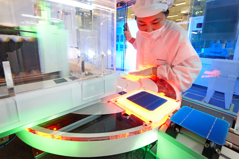 Solarzellenproduktion von Suntech in China, Quelle: Suntech Power Holdings Co. Ltd.