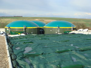 Die Biogasanlage in Bischheim, Donnersbergkreis, Quelle: juwi