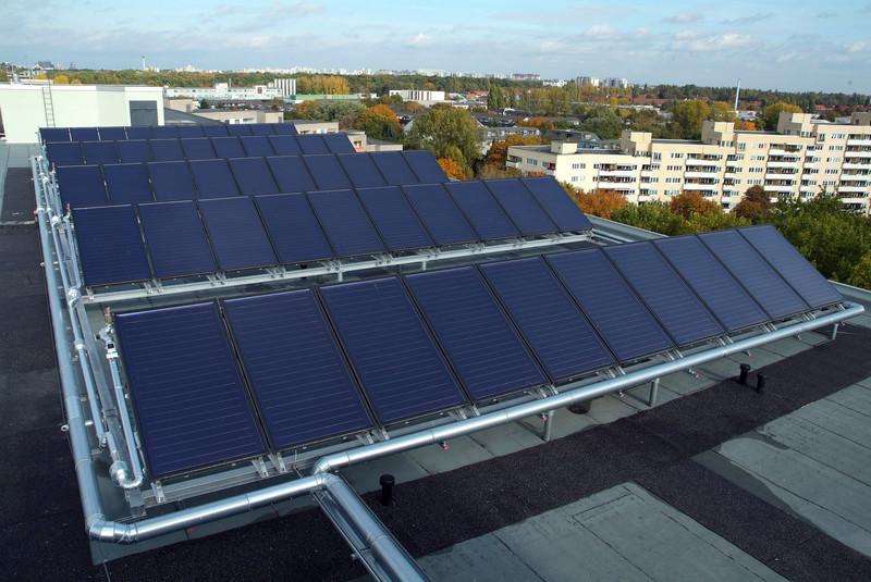 Solarthermie-Anlage, Quelle: Agentur für Erneuerbare Energien