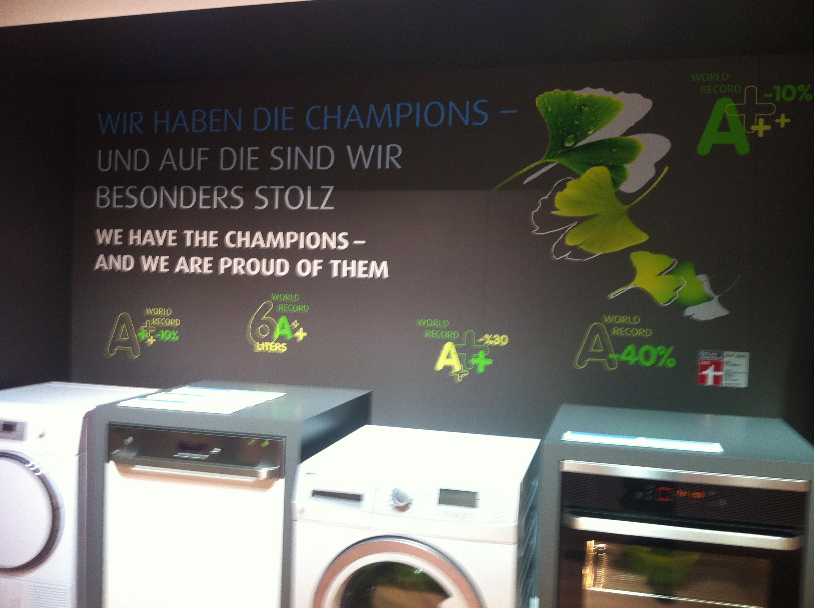 Energiesparchampions von BEKO auf der IFA 2012