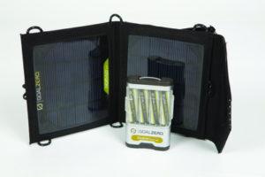 Auch eine mobile Stromversorgung mit Solar-Panelen ist auf der IFA 2012 zu sehen