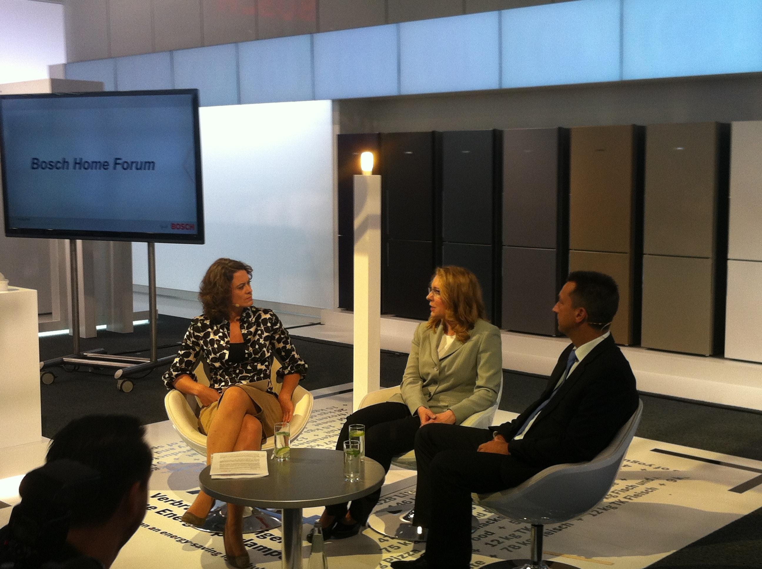 Talkrunde im Bosch Home Forum @IFA