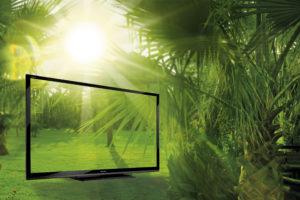 Riesig im Bild, klein im Verbrauch: Stromsparen mit den neuen TV-Modellen von Sharp,  Quelle: sharp.de