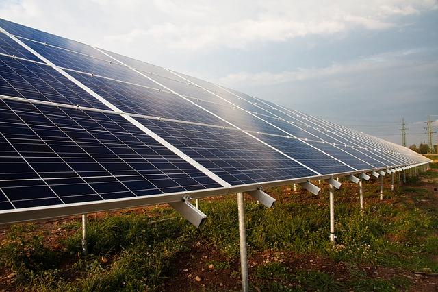 Photovoltaik Freiflächenanlage, Teil der Energiewende
