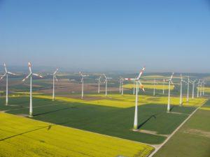 Der Windpark Druiberg bei Dardesheim ist mit 150 MW der größte Stromproduzent im virtuellen Kraftwerk der Regenerativen Modellregion Harz, © Windpark-Druiberg.de