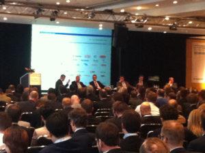Paneldiskussion der Politik zum EEG2.0 auf dem 13. Forum Solarpraxis, Foto: Andreas Kühl