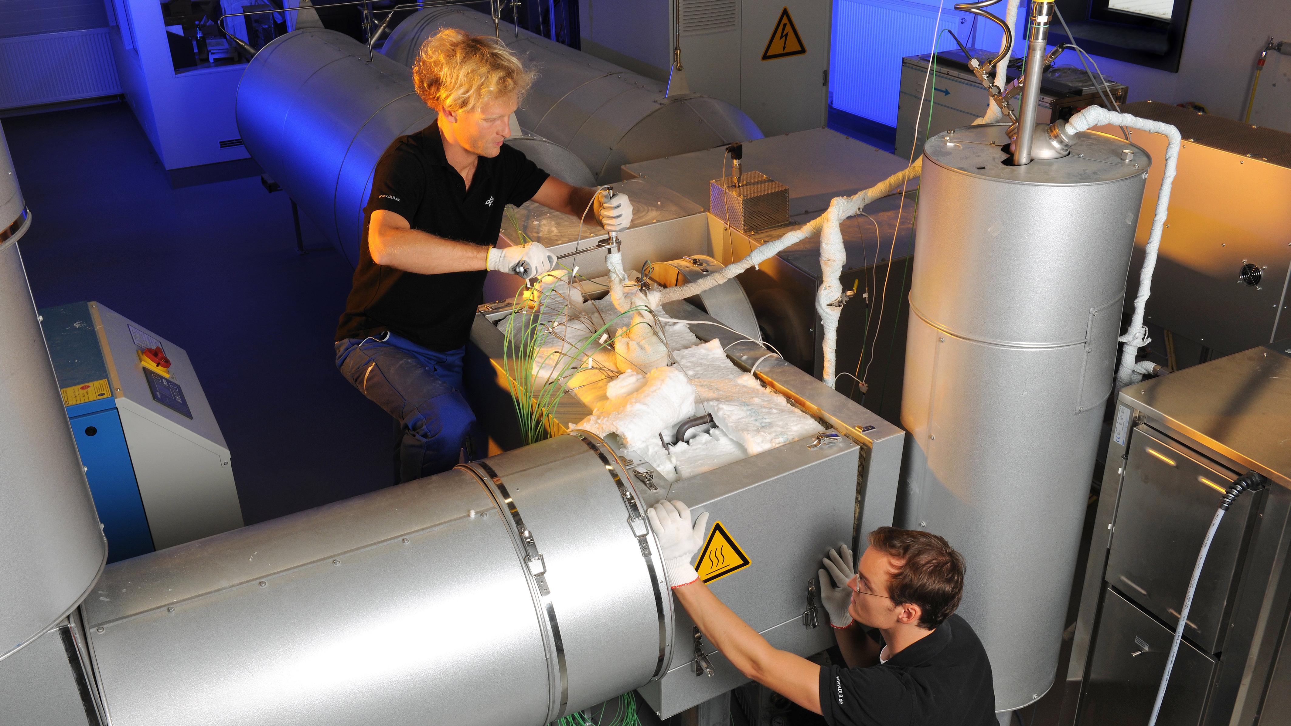 CWS-Testanlage für Thermochemische Speicher, Foto: DLR