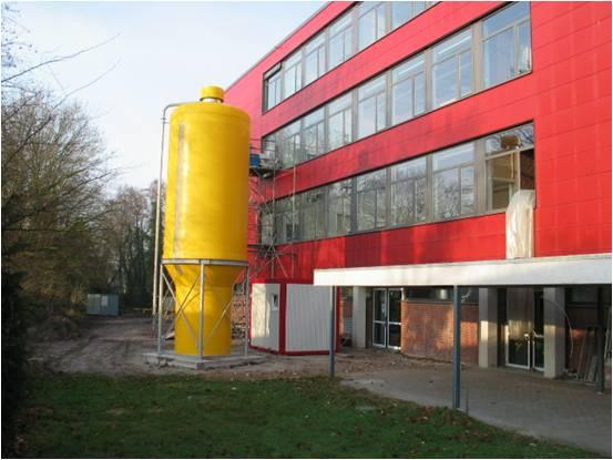 Gebäude in Oldenburg nach Sanierung mit Pelletsilo, Quelle: dena