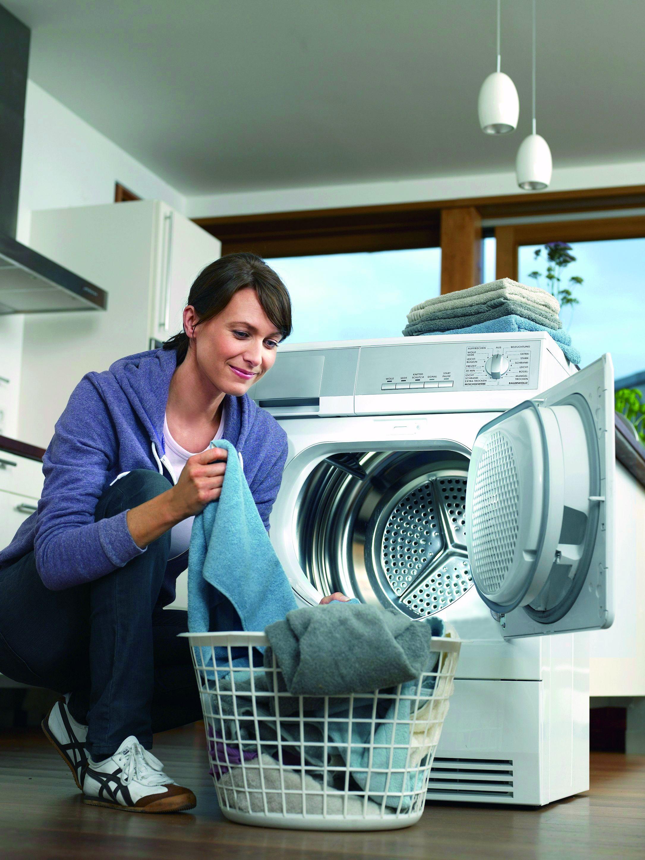 Stromfresser Wäschetrockner: Austausch lohnt sich. Quelle: dena/ stromeffizienz,de
