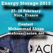 Energy Storage 2013 in Nice, France