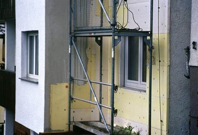 Wärmedämmung eines Einfamilienhauses, Bild: KfW-Bildarchiv / Fotograf: Thomas Klewar