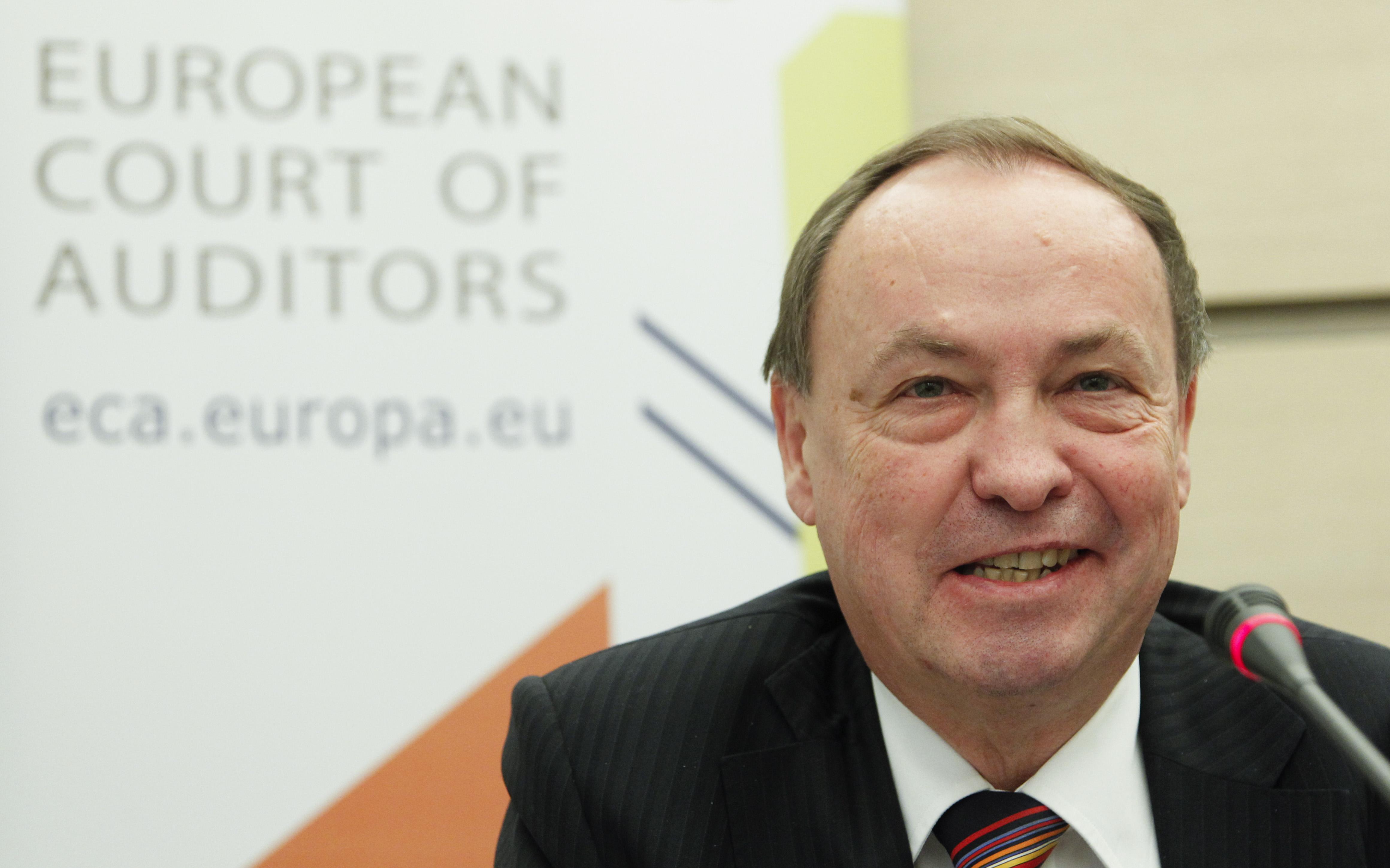 Harald Wögerbauer, Mitglied des europäischen Rechnungshofes auf der Pressekonferenz