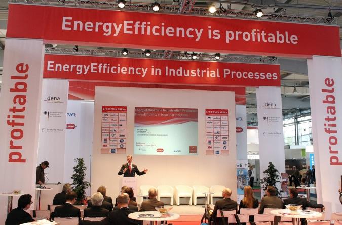 Efficiency Arena ist das Forum für energiesparende Produktion auf der Hannover Messe