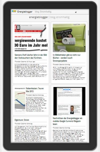 Beiträge der Energieblogger auf mobilen Endgeräten lesen