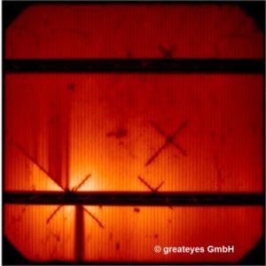 Mikroriss solarzelle