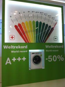 Die sparsamsten Waschmaschinen benötigen nur noch halb so viel Strom wie die Energieeffizienzklasse A+++, Foto: Andreas Kühl