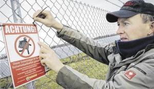 Zaun um PV Freiflächenanlage