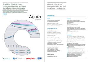 """Studie """"Positive Effekte von Energieeffizienz auf den deutschen Stromsektor"""", Grafik: Agora Energiewende"""