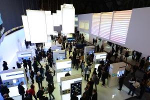 Technische Leuchten und Lampen in Halle 2.0 A30 der Light + Building 2012, Foto: Messe Frankfurt Exhibition / Pietro Sutera