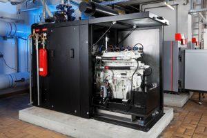 Blick in ein Mini-BHKW als Beispiel, Foto: Berliner Energieagentur