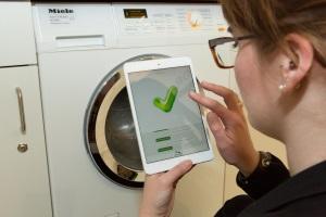 Statusabfrage der Miele-Waschmaschine über digitalstrom-Sprachsteuerung, Foto: digitalstrom