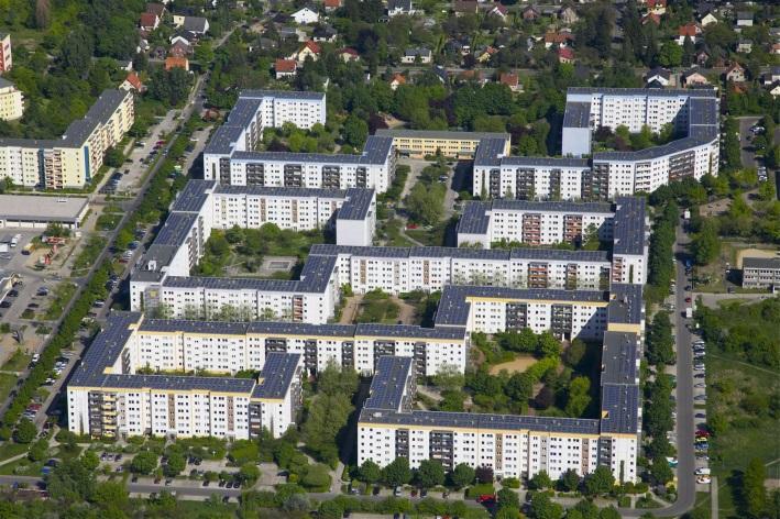 Gelbes Viertel Berlin Solaranlage (c) STADT UND LAND