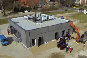 Luftbild des WEMAG Batteriespeichers in Schwerin, Foto: WEMAG AG