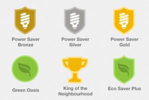 Badges zur Belohnung beim Stromsparen, Grafik: GreenPocket