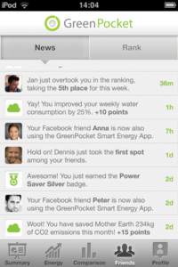 Screenshot der Social-Metering App, Foto: GreenPocket