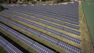 Luftaufnahme des Solarparks Langenbogen Copyright: Sonneninvest AG