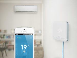 tado° Cooling Bbox und app im Raum , Foto: tado