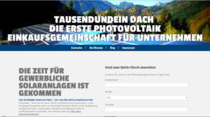 Screenshot von tausendundeindach.at