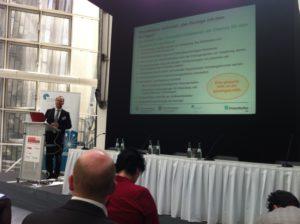 Prof. Bauernhansel (EEP) zur Energieeffizienz in der Produktion auf den Berliner Energietage, Foto: Andreas Kühl