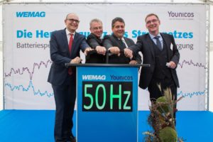 Start des WEMAG Batteriespeichers