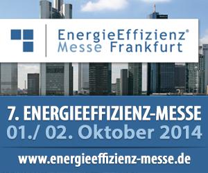 Hinweis auf Energieeffizienz-Messe in Frankfurt mit Ticketverlosung