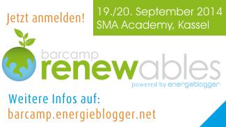 Große Themenvielfalt beim Barcamp Renewables 2014