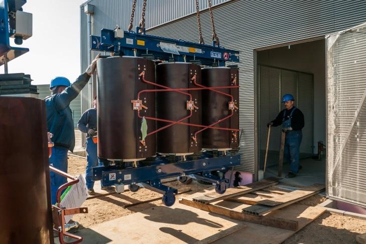 Baustelle WEMAG Batteriespeicher