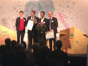 Energieeffizienzpreis des Publikums geht an bettervest mit Patrick Mijnals, Foto: Andreas Kühl
