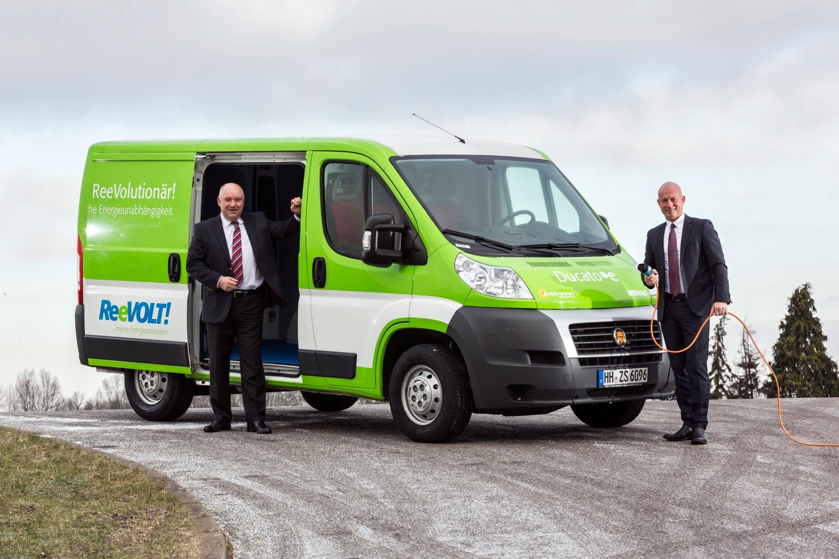 ReeVolt bietet künftig neben Haus-Batterie und Kleinwagen auch Kleintransporter an