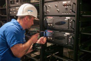 Arbeiten für denWEMAG-Batteriepark, Foto: Younicos
