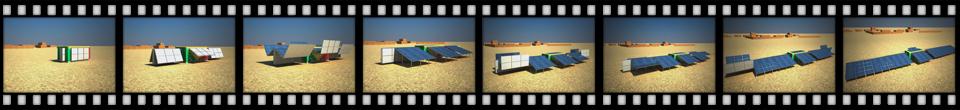 Animation Aufbau Solarkraftwerk