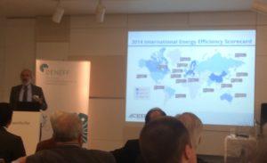 Steve Nadal präsentiert die ACEEE Energy Efficiency Scorecard, Foto: Andreas Kühl