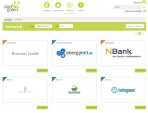 Netzwerk der Mitglieder bei StartGreen